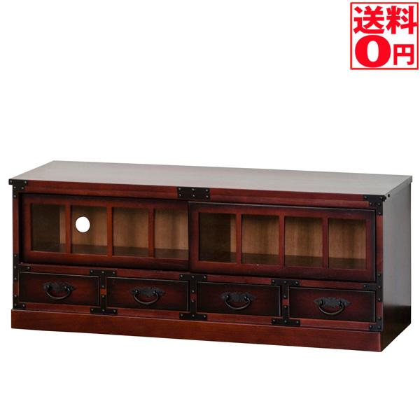 【送料無料】 民芸調デザイン ローボード 幅100cm 64805 和室