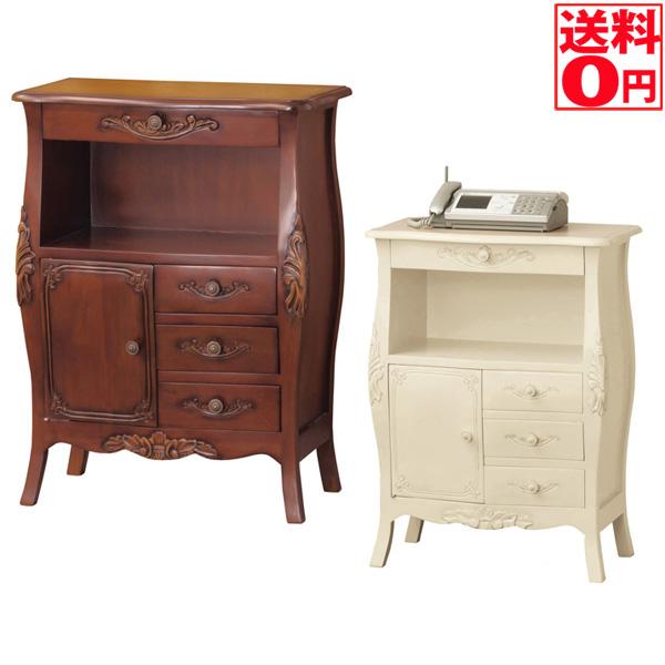 92172・28575 コモファックス台 【送料無料】 アンティーク調家具 BR/WH