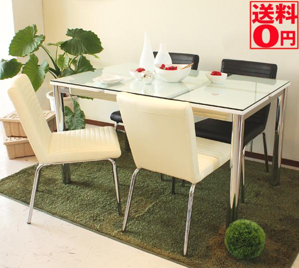 【送料無料】 Nフレスコ ダイニングテーブル ガラス越し 幅130cm 4406250