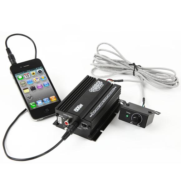 【送料無料】 バイク オーディオ アンプ iPhone スマホ 対応 ボリュームリモコン 2チャンネル MAX300W小型 アンプ マジェスティ フォルツァ フュージョン マグザム スカイウェーブ 原付 ディオ ジョグ
