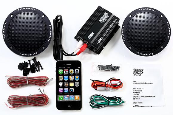 【送料無料】 iphone アンドロイド など スマホ に対応!!バイク オーディオ アンプ スピーカー 完全防水スピーカー採用 オーディオ マジェスティフォルツァフュージョンマグザムスカイウェーブ原付ディオジョグ