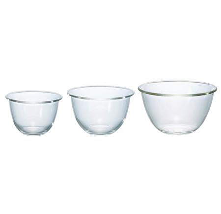 HARIO ハリオ 耐熱ガラス製 新作 人気 商品追加値下げ在庫復活 3個セットMXPN-3704 ボウル