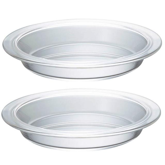 耐熱ガラス製のパイ皿☆ HARIO(ハリオ) 耐熱パイ皿2枚セットHPZ-1812