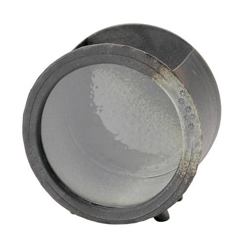 【送料無料】へちもん陶製きんぎょ箱・丸型(エアポンプセット・陶ころ付)