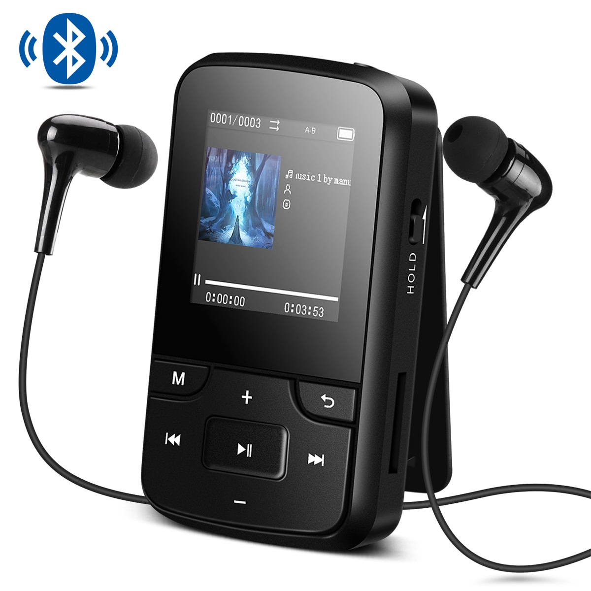 It is correspondence black G6 to the up to 128GB micro SD card attached to  AGPTEK music player music player Bluetooth deployment clip mini-MP3 player
