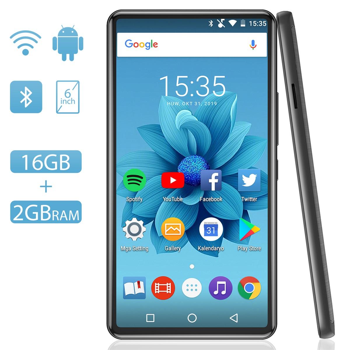 あらゆるものに変身できる多才な音楽プレイヤー 一台で観る読む聴くネット遊ぶが実現 送料無料 AGPTEK オーディオプレーヤー 音楽プレーヤー bluetooth搭載 wifi接続可能 6インチ大画面 Hi-Fiロスレス高音質 予約 動画鑑賞 内蔵2GB+16GB 最大128GBsdカード対応 MP3プレーヤー アウトレットセール 特集 デジタルオーディオプレーヤー 多種アプリ対応 タッチパネル ips液晶パネル スピーカー付き