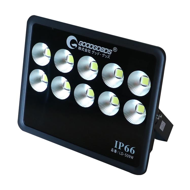 投光器 LED 作業灯 スタンド 500W 53000lm 大型 昼光色 広角120度 IP66 LEDライトAC85 265V 屋外 照明 LED投光機 野球場 舞台照明 LEDチップ十個 看板灯 駐車場 車庫 長寿命 瞬時点灯 現場作業 防塵防水(LD-509W)