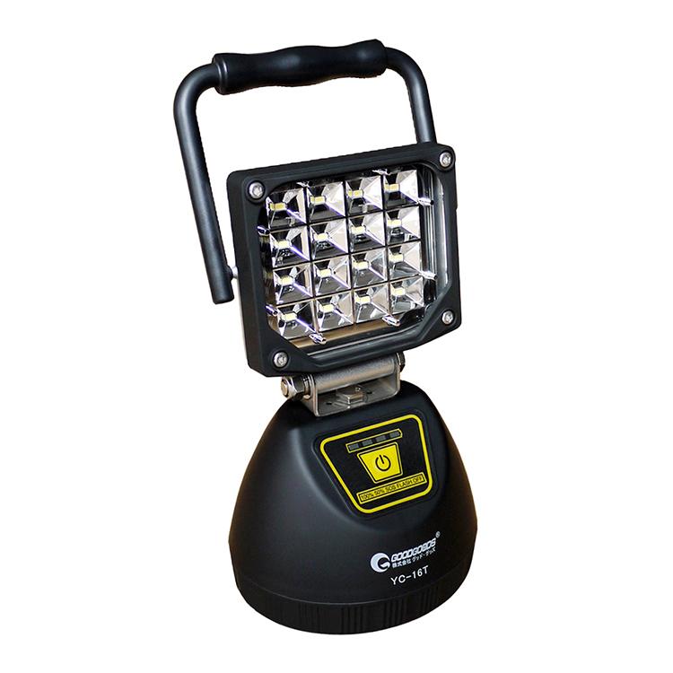 投光器 停電対策 led 充電式 16W 1800LM ポータブル 作業灯 ワークライト マグネット付き 屋外照明 コードレス LEDライト IP65 広角120度 キャンプ アウトドア ランタン スマホに充電 ポータブル 持ち運び(YC-16T)父の日
