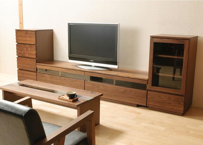 テレビボード テレビ台 ローボード 150 完成品 日本製 おしゃれ 木製 無垢材 ウォールナット リビング収納 開梱設置無料 送料無料