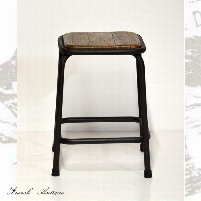 【送料無料(一部地域除く)】スツール 椅子 幅340 奥行き355 高さ470mmアンティーク カントリー 家具 雑貨おしゃれ一人木製 フランス人デザイナー