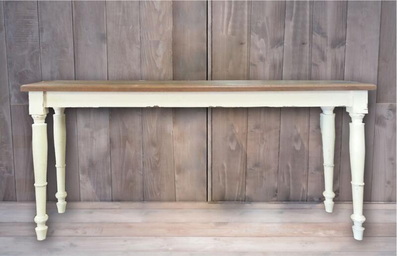 【送料無料(一部地域除く)】ダイニングテーブル コンソールテーブル 152 アンティーク カントリー 家具 木製 おしゃれ 完成品 ホワイト 白 フランス人デザイナー