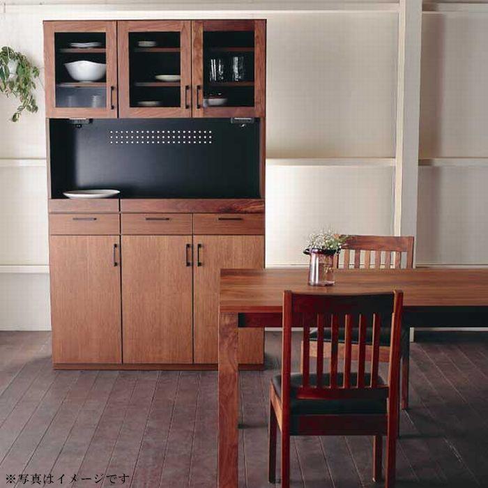 レンジ台 キッチンボード 120 食器棚 おしゃれ 完成品 日本製 大川家具 キッチン収納棚 カップボード 木製 無垢 ウォールナット オーク 開梱設置 送料無料