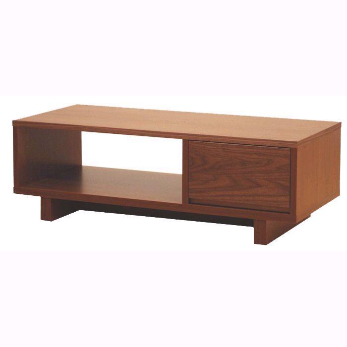 【送料無料】リビングテーブル ローテーブル 引き出し付き リビング収納 100 日本製 完成品 木製 おしゃれ コンパクト ブラウン