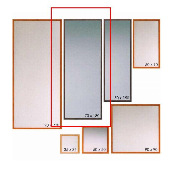壁掛けミラー ウォールミラー 70×180 無垢 ブラックチェリー ウォールナット オーク 姿見 鏡 姿見ミラー 日本製 完成品 木製 縦置き 横置き 自由 送料無料