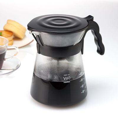 ハリオ コーヒー ドリップポット 耐熱ガラス V60 コーヒードリッパー ドリップサーバー ドリップイン ディスカウント New HARIO コーヒーメーカー ギフト VDI-02B 限定価格セール 珈琲器具