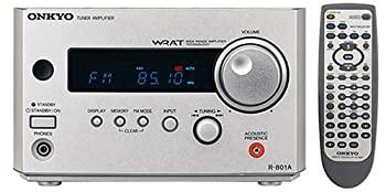 中古 ONKYO INTEC155 FM AMチューナー 24W+24W クリアランスsale 期間限定 送料0円 S R-801A シルバー