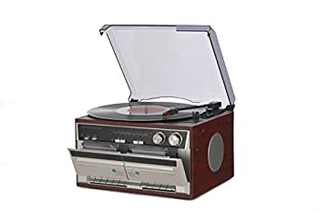 中古 いつでも送料無料 エバリエント 木目調Wカセットレコードプレーヤー TT-386W 数量は多