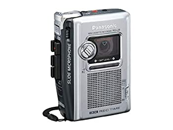 中古 Panasonic お気にいる ミニカセットレコーダー RQ-L26-S SALENEW大人気! シルバー 25時間連続録音