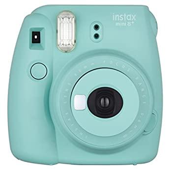 中古 アウトレットセール 特集 FUJIFILM インスタントカメラ チェキ instax mini8プラス 接写レンズ 新作アイテム毎日更新 ミント 純正ハンドストラップ付き MINT MINI 8P INS