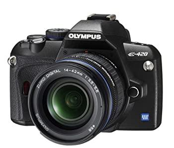 中古 OLYMPUS デジタル一眼レフカメラ 送料無料 一部地域を除く E-420KIT E-420 内祝い レンズキット