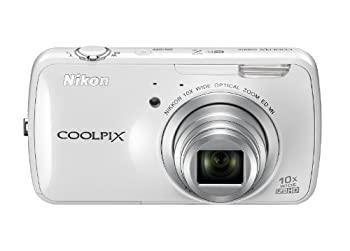 最新 中古 Nikon デジタルカメラ COOLPIX S800c 光学10倍ズーム Android搭載 秀逸 S800CWH ホワイト