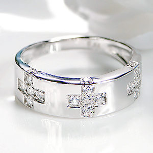 K18WG【0.34ct】ダイヤモンドリング【送料無料】【刻印無料】【品質保証書付】ホワイトゴールド K18 クロス ダイアモンド ダイア リング 指輪 0.3ct レディース ギフト プレゼント 18K