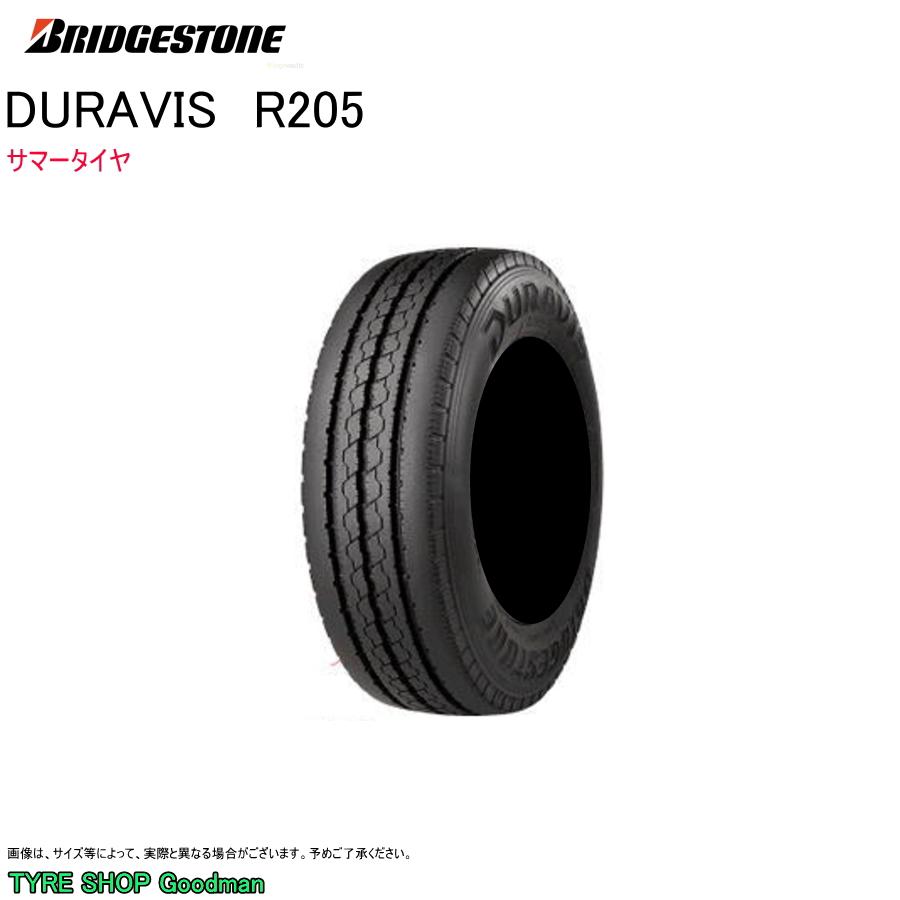 ブリヂストン 195/70R17.5 112/110L R205 デュラビス サマータイヤ (個人宅不可)(小型トラック)(17.5インチ)(195-70-17.5-112)
