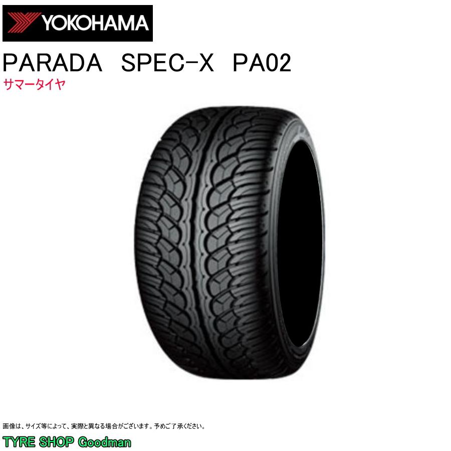 ヨコハマ 255/30R22 95V Ref パラダ スペックX PA02 サマータイヤ (個人宅不可)(オンロード)(4WD SUV)(22インチ)(255-30-22)