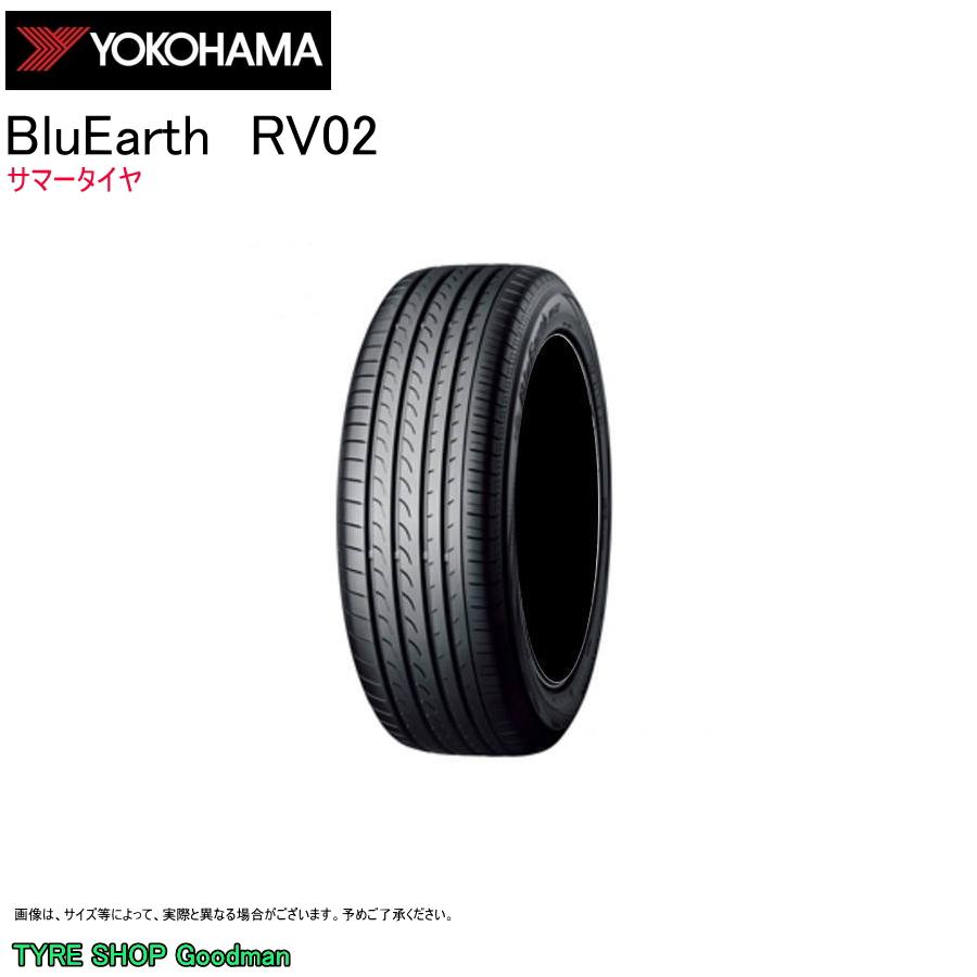 ヨコハマ 215/65R17 99V RV-02 ブルーアース サマータイヤ (低燃費)(ミニバン)(乗用車用)(17インチ)(215-65-17)