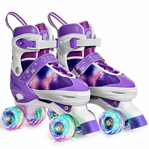 Gonex ローラースケート調節可能なスケート屋外ブレード10代の女性のためのインライン屋内屋外裏庭のスケートのためのライトアップホイール付き女の子男の子子供
