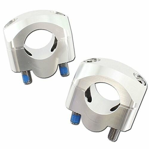 汎用 アルミ製 テーパーハンドル用 安心と信頼 クランプキット シルバー 22.2mm~28.6mm ファイ オーバーのアイテム取扱☆