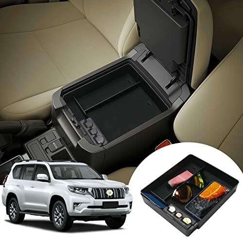 トヨタ プラド Toyota Land 内祝い 18%OFF Cruiser Prado J150 収納ボックス センター 小物入れトレイ すべり止め センターコンソールトレイ コンソール ボックストレイ ラバーマット付き 荷物を置きやすい