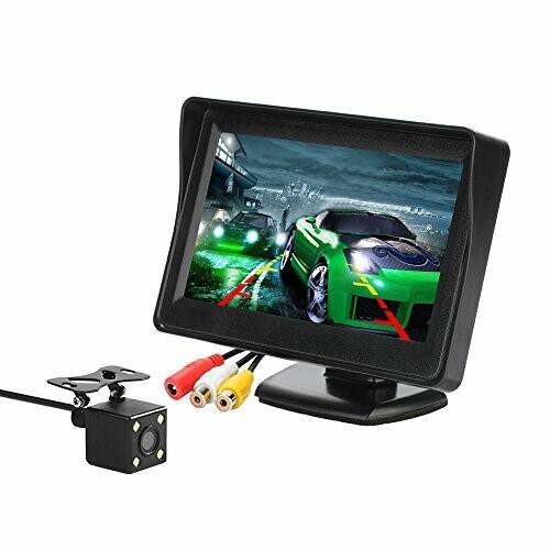 MiCarBaバックカメラモニターセット 4.3インチ 美品 車用ミニオンダッシュモニター 訳あり + IP67防水 LEDランプ搭載 CL-403KD 暗視可能リアビューシステム 170度広角バックカメラ