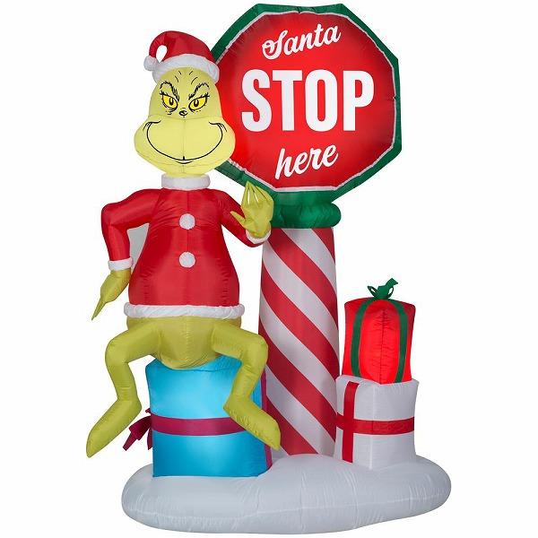 送料無料 グリンチ×サンタ衣装 クリスマス エアブロー エアバルーン クリスマス装飾デコレーション ディスプレイ 風船 サンタインツリー