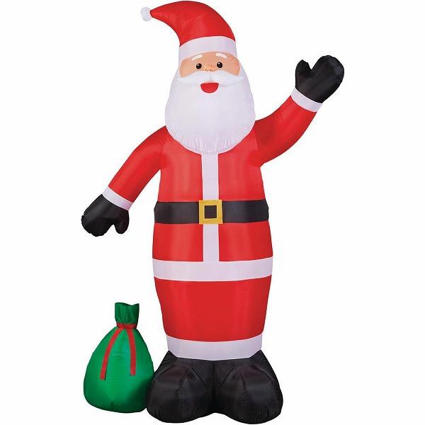 送料無料 ジャイアント級 サンタクロース クリスマス エアブロー エアバルーン クリスマス装飾デコレーション ディスプレイ 風船 サンタインツリー