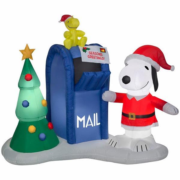送料無料 スヌーピー エアメール ツリー クリスマス エアブロー エアバルーン クリスマス装飾デコレーション ディスプレイ 風船 サンタインツリー