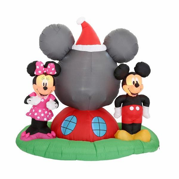 送料無料 ディズニー ミッキーマウス クラブハウス ミニー クリスマス エアブロー エアバルーン クリスマス装飾デコレーション ディスプレイ 風船 サンタインツリー