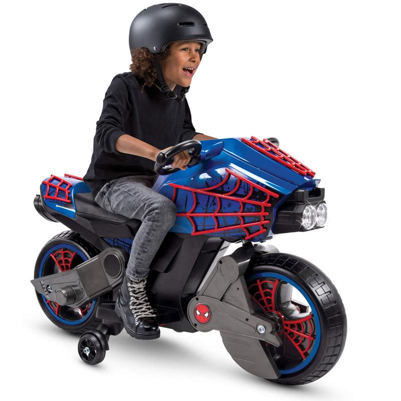 【送料無料】子供用 三輪電動バイク マーヴェル・スパイダーマン・アベンジャーズ・アイアンマン!本格的電動バイク