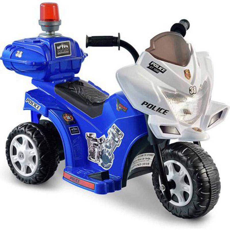 【送料無料】子供用 三輪電動バイク 白バイ ポリス パトロール!本格的電動バイク