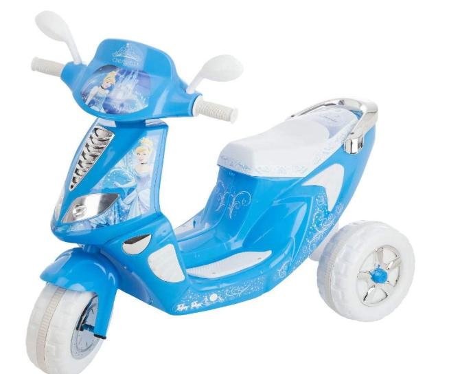 【送料無料】ディズニー プリンセス シンデレラ  電動スクーター 乗り物 おもちゃ バイク  海外直輸入