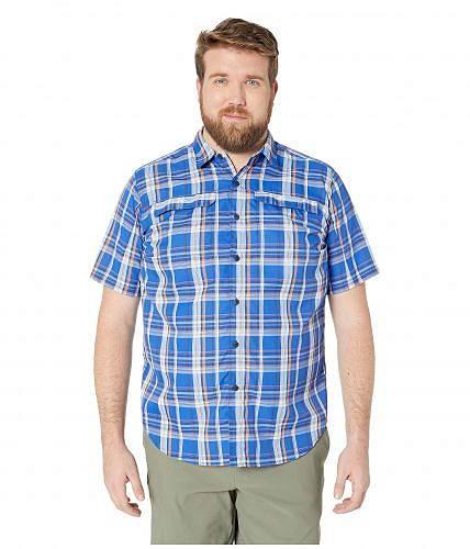送料無料 コロンビア Columbia メンズ 男性用 ファッション ボタンシャツ Big and Tall Silver Ridge 2.0 Multi Plaid Short Sleeve Shirt - Azul Plaid