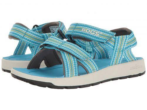 送料無料 ボグス Bogs Kids 女の子用 キッズシューズ 子供靴 サンダル Rio Stripes Sandal (Toddler/Little Kid/Big Kid) - Light Blue Multi