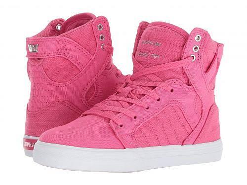 送料無料 スープラ Supra Kids キッズ 子供用 キッズシューズ 子供靴 スニーカー 運動靴 Skytop (Little Kid/Big Kid) - Pink/Silver/White