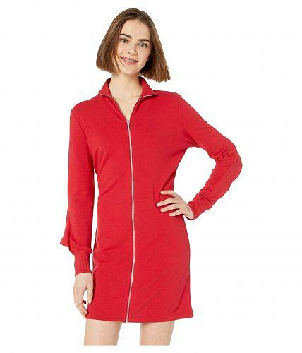 べべ Bebe レディース レディース Back 女性用 - ファッション ドレス Zip Front Ruffle Back Dress - Chili Pepper, Kimono Factory nono:e33b9981 --- acessoverde.com