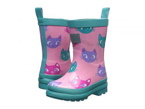 Hatley Kids 女の子用 キッズシューズ 子供靴 ブーツ レインブーツ Silly Kitties Rain Boots (Toddler/Little Kid) - Pink