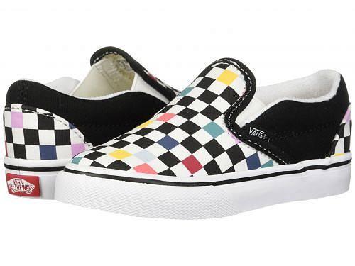送料無料 Vans Kids バンズ キッズ 子供用 キッズシューズ 子供靴 スニーカー 運動靴 Vans Kids バンズ Classic Slip-On (Toddler) - (Party Checker) Multi/Black