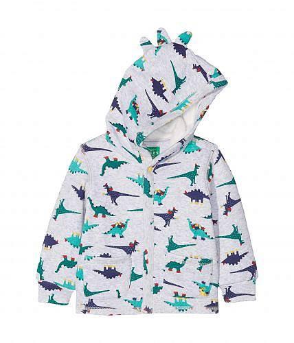 送料無料 Joules Kids 男の子用 ファッション 子供服 パーカー スウェット Printed Hooded Sweatshirt (Infant) - Grey Marl Dinosaur