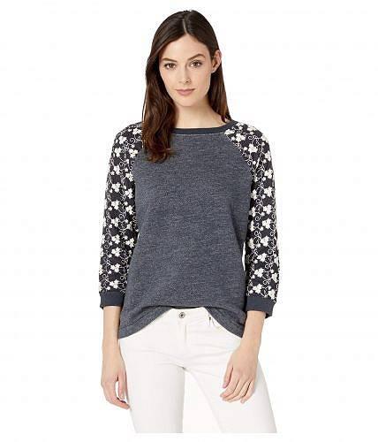 送料無料 ジャグジーンズ Jag Jeans レディース 女性用 ファッション パーカー スウェット Trixie Lace Sleeve Sweatshirt - Navy