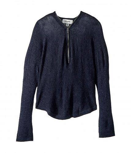 Maddie by Maddie Ziegler 女の子用 長袖 ファッション 子供服 セーター Y-Neck Zip Sweater (Big Kids) - Blue