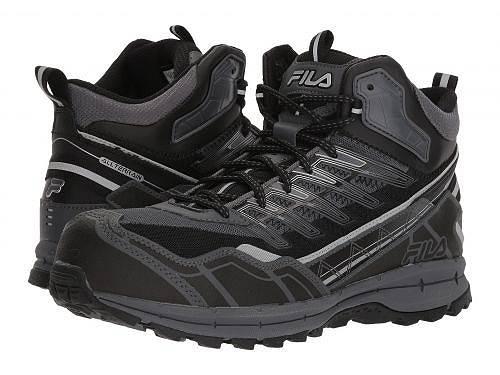 送料無料 フィラ Fila メンズ 男性用 シューズ 靴 スニーカー 運動靴 Hail Storm 3 Mid Composite Toe Trail - Castlerock/Black/Metallic Silver